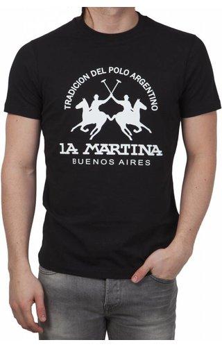 La Martina La Martina ® T-Shirt Logo Zwart