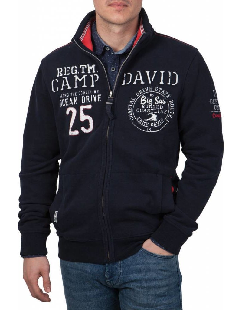 Camp David ® vest Ocean Drive, Donkerblauw