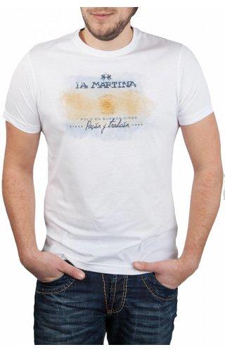 La Martina La Martina ® T-Shirt Wit, Buenos Aires