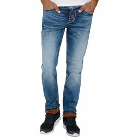 Camp David Camp David ® Blue Used Denim met brede stiksels