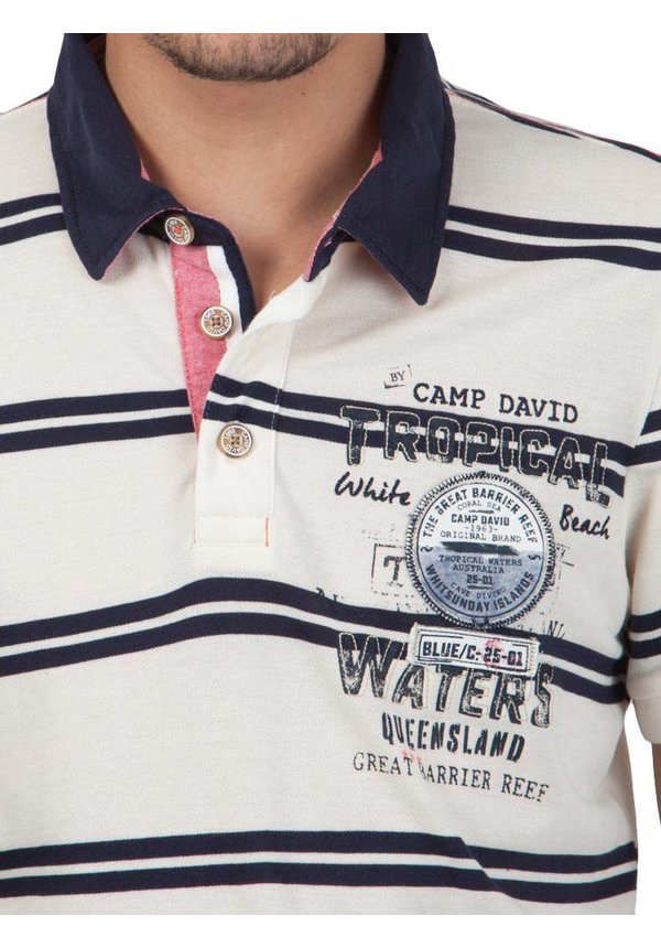 ® Poloshirt Tropical Water