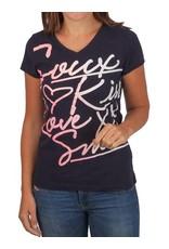 Soccx T-Shirt Met Frontprint, Donkerblauw