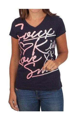 Soccx Soccx ® T-Shirt Met Frontprint, Donkerblauw