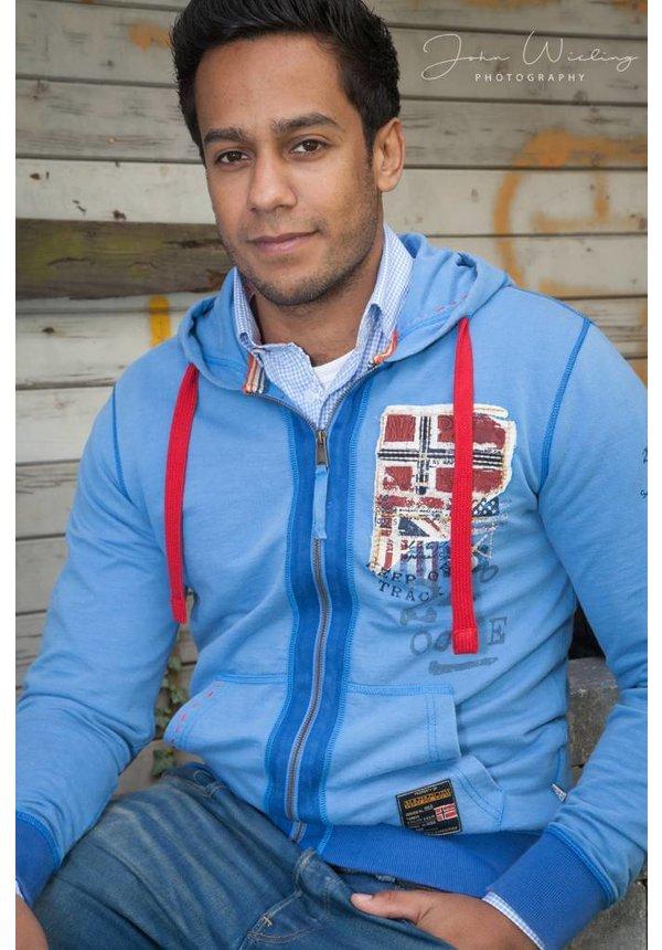 ® Sweatshirt Biner, Azure