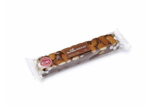 Vital Belgische, handgemaakte zachte nougat met chocolade (100g)