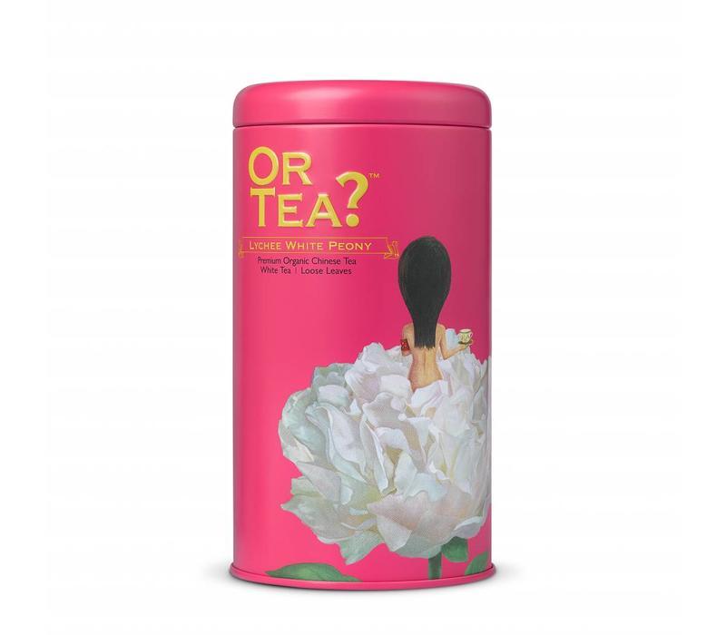 Cylinderdoos met losse witte thee BIO (75g)