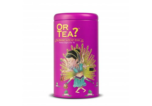 Or Tea? Cylinderdoos met losse chai thee BIO (75g)