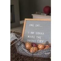 Letter board - 30 x 30 - Grey