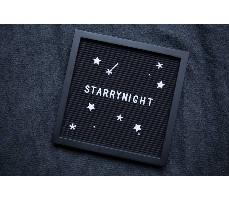Letter board - 30 x 30 - Volledig zwart