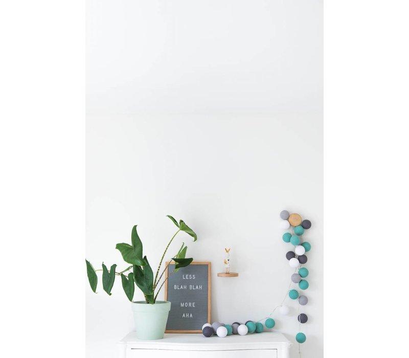 Letter board - 30 x 45 - Grijs