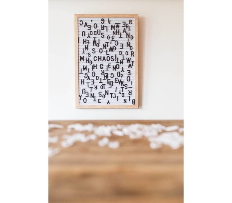 Letter board - 30 x 45 - Wit