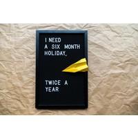 Letter board - 30 x 45 - Volledig zwart