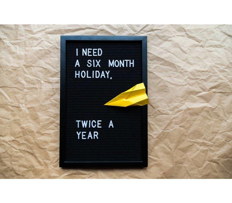 Letter board - 30 x 45 - All black