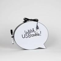 Speechbubble - Zwart