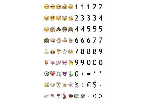 LEDR® LEDR® - 85 emoticons & numbers  - A3 & A4