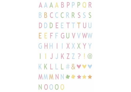 LEDR® LEDR® - 85 pastel coloured letters & symbols  - A3 & A4