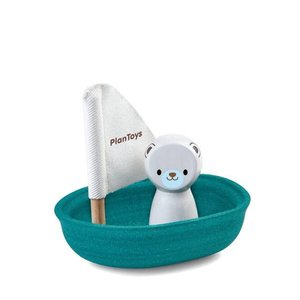 Fairplace Plan toys sailing boat polar bear