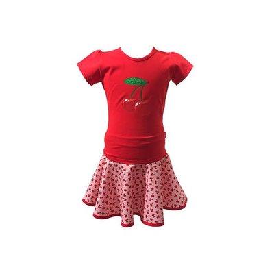 YEZ-Handmade Circular skirt CERISE - On demand