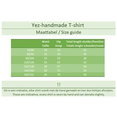 YEZ-Handmade T-shirt korte mouw