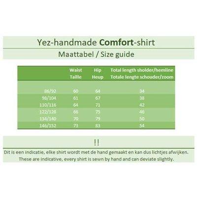 YEZ-Handmade Comfort-shirt met korte mouw