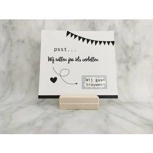 Studijoke Kraskaart Wij gaan trouwen