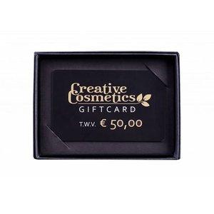 Creative Cosmetics Gift card €50