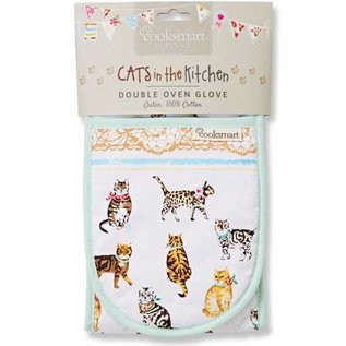 Cooksmart Cats on parade ovenhandschoenen