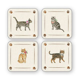 Cooksmart Cats on parade Onderzetters (Per 4st.)