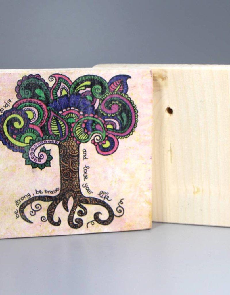 "Holzdruck S ""Lebensbaum"""