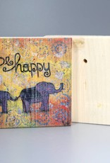 "Holzdruck S ""be happy"""