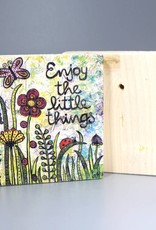 "Holzdruck S ""Enjoy the little things"""
