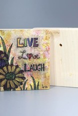"Holzdruck S ""Live, Love, Laugh"""