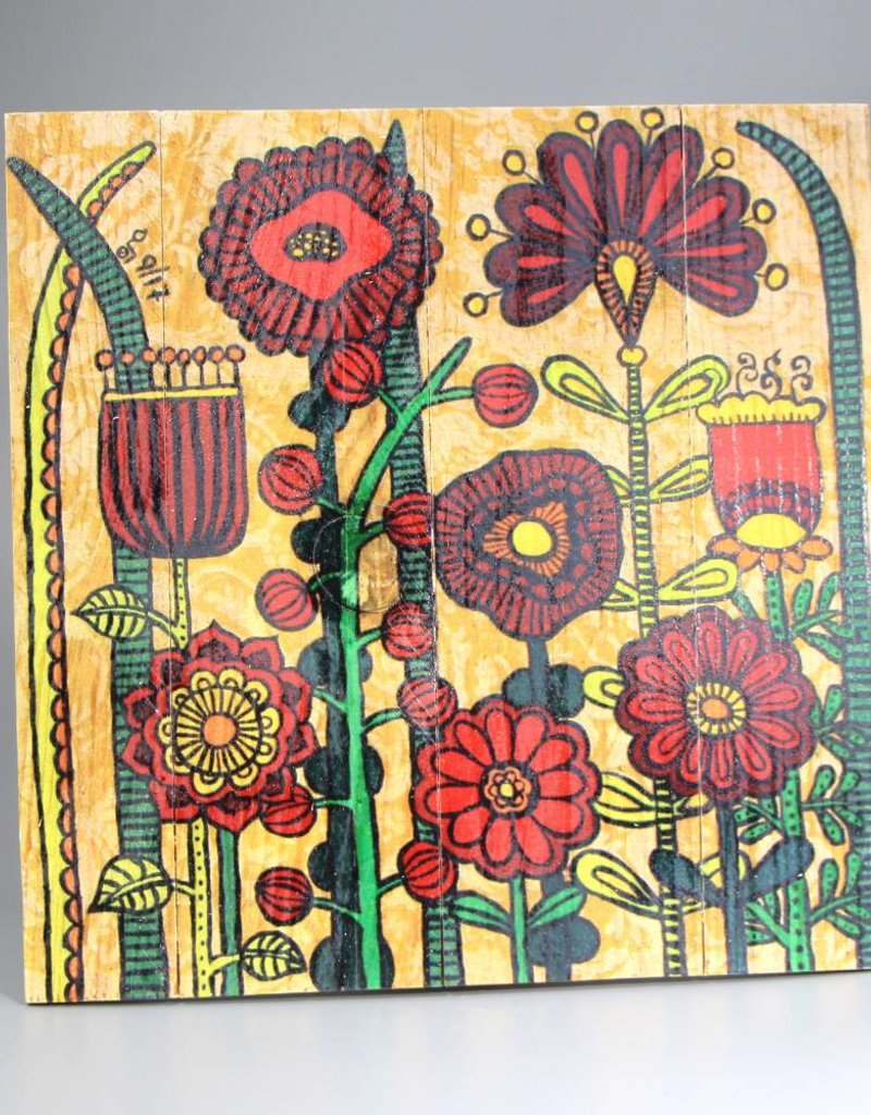 "Holzdruck M ""Flowers IV"""