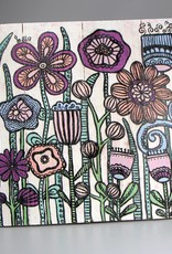 """Holzdruck M """"Flowers Pantone"""""""
