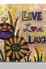 "Poster ""Live, Love, Laugh"""