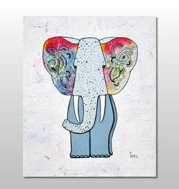 "Poster ""Hippiefant"""