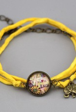 Armband aus Seide - Live, Love, Laugh