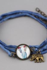 Armband aus Seide - Hippiefant