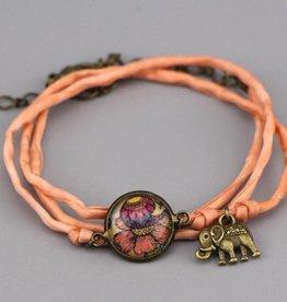 "Seidenarmband Blume aus ""It's the little things"""