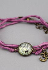 Armband aus Seide - Mehndi Muster hortensie