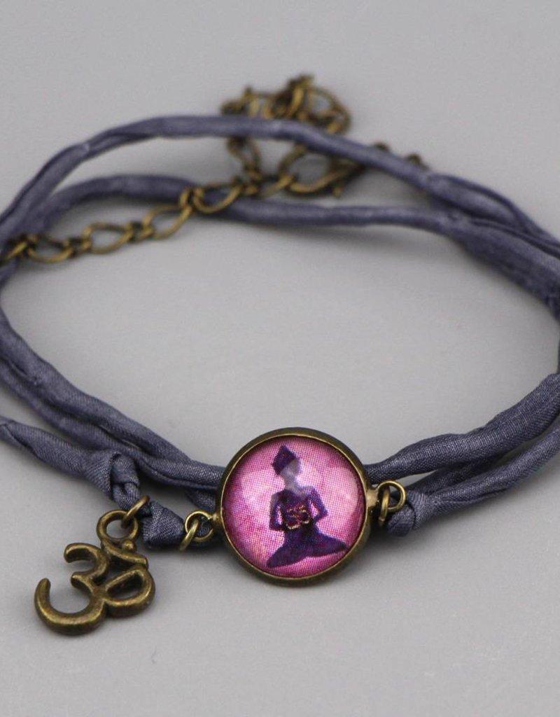 Armband aus Seide - Buddha