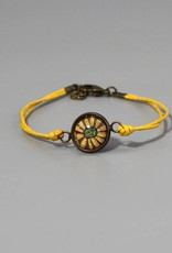 Armband aus Baumwolle - Blume gelb