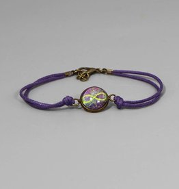 Baumwollarmband Infinity lila