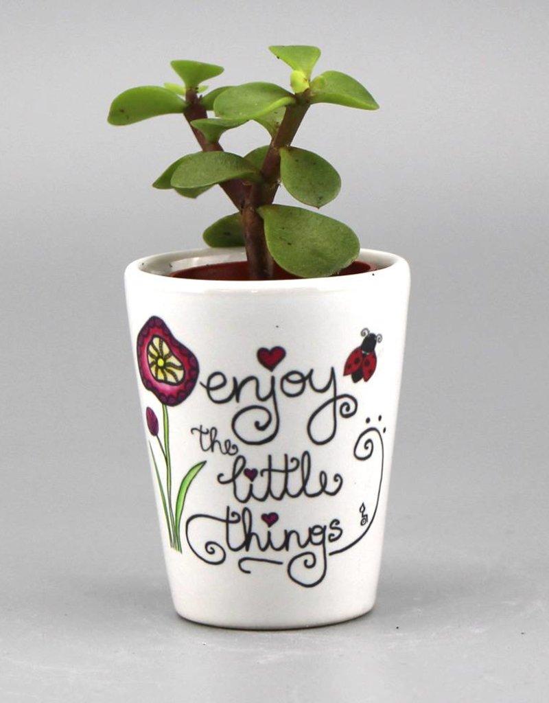Blumentopf mini - Enjoy the little things