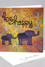 Klappkarte - be happy