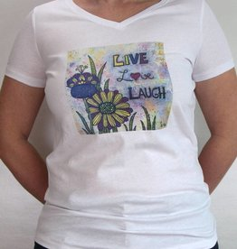 Damen T-Shirt Live Love Laugh