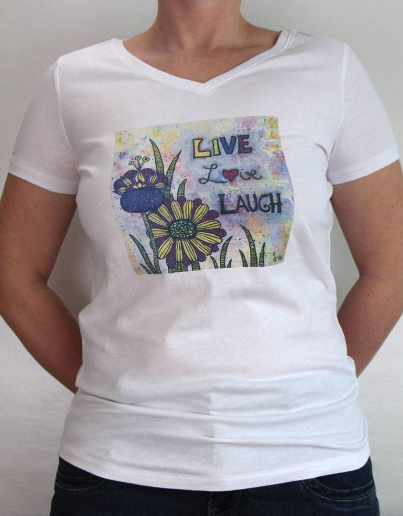 Damen T-Shirt Live Love Laugh