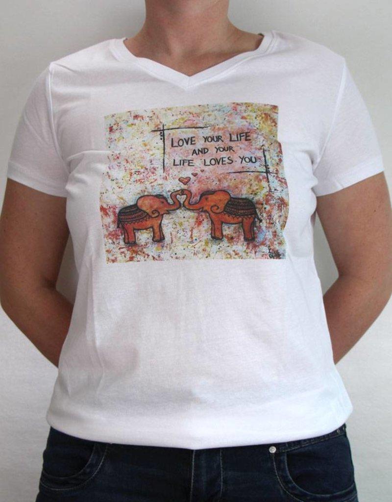 Damen T-Shirt Love your life