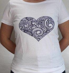 Damen T-Shirt Mehndi Herz