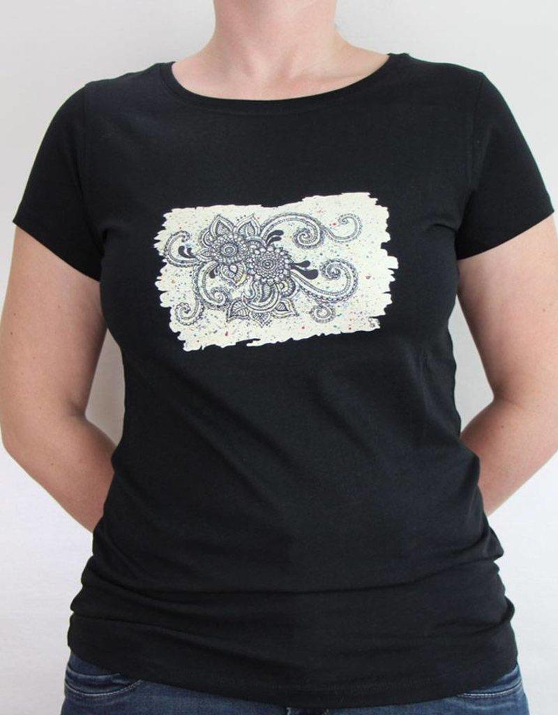 Damen T-Shirt Mehndi Muster